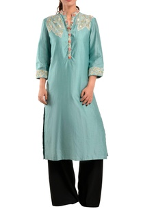 blue-chanderi-silk-kurta