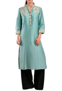 blue-chanderi-silk-kurta