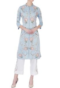 sky-blue-applique-embellished-kurta