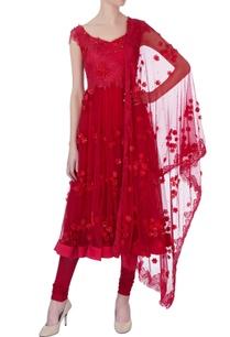 red-floral-embroidered-anarkali-set