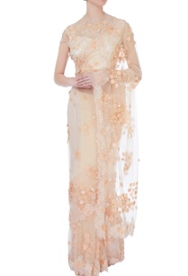 beige-chantilly-lace-sari