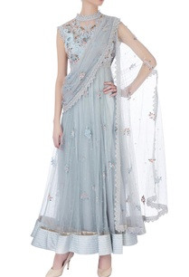blue-floral-anarkali-with-attached-dupatta