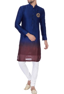 blue-wine-ombre-chanderi-kurta-with-churidar