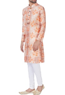orange-raw-silk-kurta-churidar