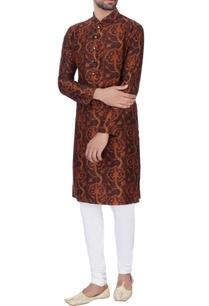 brown-digital-printed-kurta-churidar