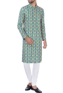 multicolored-cotton-kurta-churidar