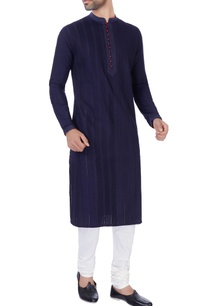 navy-blue-katan-long-kurta-churidar