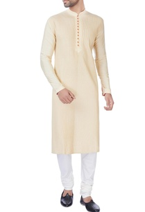 beige-katan-kurta-with-churidar-pants