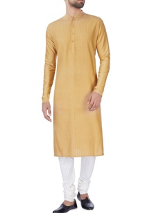 gold-beige-kurta-with-churidar-pants