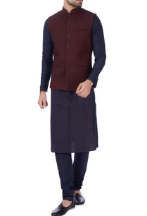 wine-quilted-nehru-jacket
