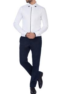 white-black-strip-shirt