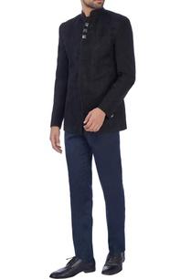 black-laser-cut-nehru-jacket