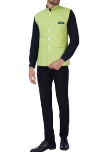 light-green-pocket-nehru-jacket