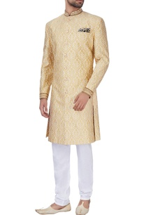 gold-silk-brocade-sherwani