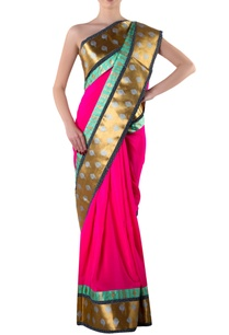pink-gota-sari-with-blouse-piece