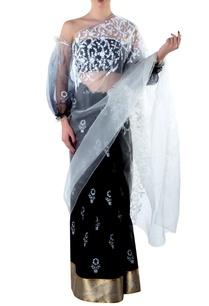 black-organza-pallu-sari-blouse-piece