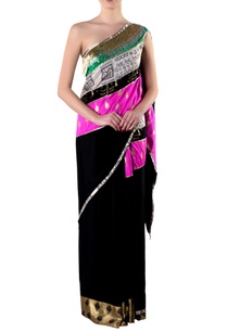 black-embroidered-sari-with-blouse-piece