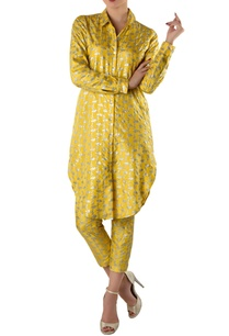 yellow-printed-kurta-shirt-pants