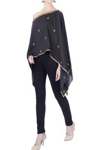 black-embroidered-handloom-silk-cape