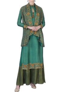 green-zardozi-jacket-kurta-set
