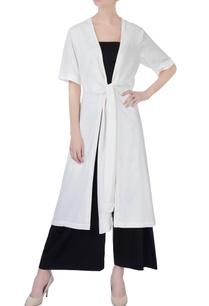 white-row-knot-kimono-jacket