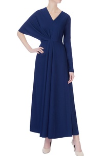 navy-blue-draped-maxi-dress