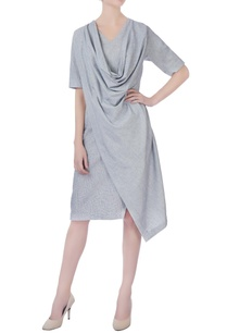 grey-ripped-cowl-dress