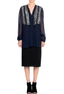 navy-blue-embroidered-top