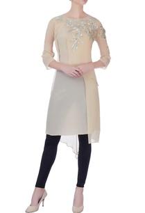 light-beige-double-layered-kurta