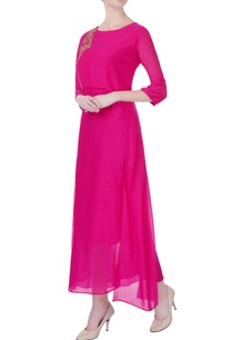 hot-pink-zardozi-embroidered-kurta