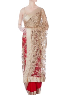 red-sari-with-blouse-piece-petticoat