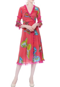 rasberry-pink-printed-dress