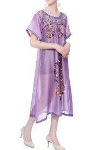 purple-printed-tassels-dress