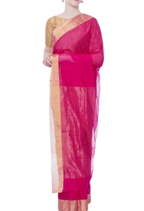 red-sari-with-gold-zari-work