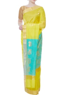 lime-yellow-zari-embroidered-sari