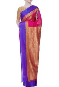 fuschia-pink-chanderi-sari