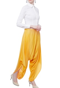 yellow-cowl-draped-pant