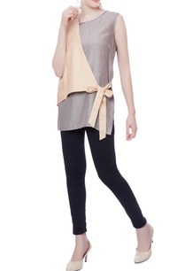 silver-pink-tie-up-tunic