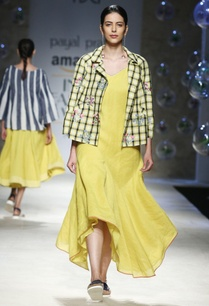 yellow-black-gingham-check-jacket