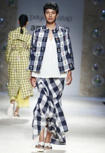 blue-white-gingham-check-skirt