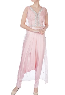 pink-sheer-jacket-with-blouse-dhoti-pants