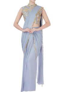 grey-tassel-sari-with-blouse