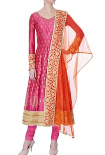 rani-pink-printed-anarkali-set