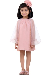 pink-dress-with-flared-sleeves