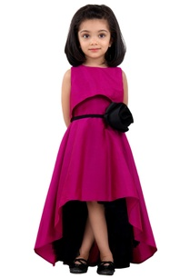 magenta-pink-high-low-dress