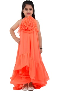 orange-halter-style-dress