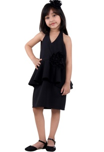 black-halter-peplum-dress