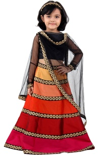 multicolored-taffeta-silk-lehenga-set