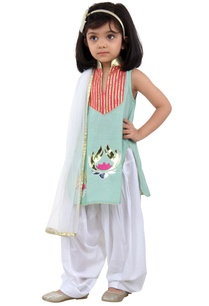 mint-green-lotus-kurta-set