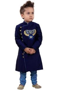 blue-sherwani-with-embroidered-elephant-motif